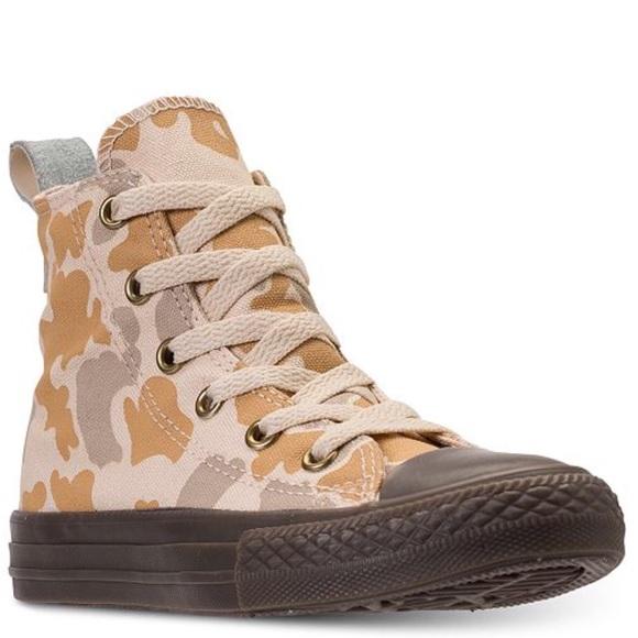 b6710878a27 Boys Converse Chuck Taylor camo hi top sneakers